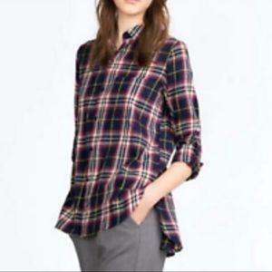 Zara Trafaluc Plaid Flannel Button Down Shirt M
